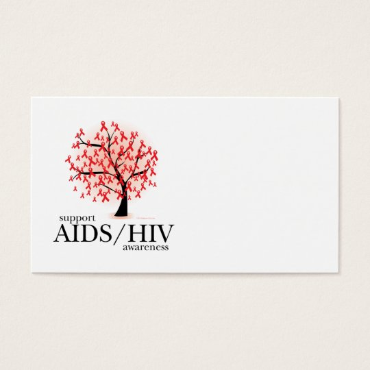 AIDS/HIV Tree Business Card