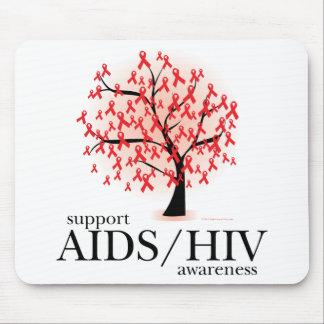 AIDS/HIV Tree Mouse Pad