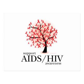 AIDS/HIV Tree Postcard