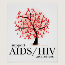 AIDS/HIV Tree Poster