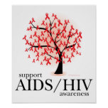 AIDS/HIV Tree Posters