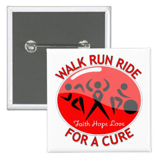 AIDS HIV Walk Run Ride For A Cure Button