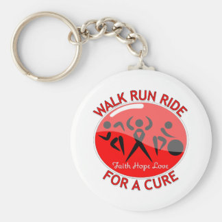 AIDS HIV Walk Run Ride For A Cure Keychains