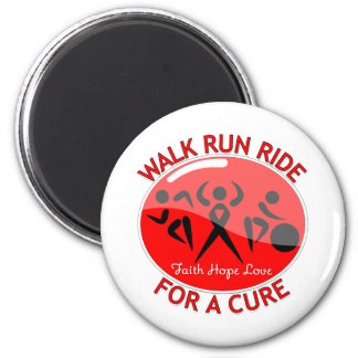 AIDS HIV Walk Run Ride For A Cure Refrigerator Magnets