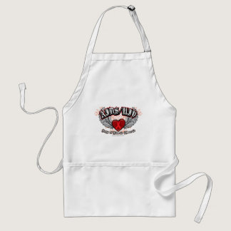 AIDS/HIV Wings Adult Apron