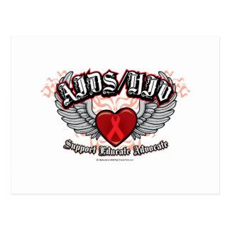 AIDS/HIV Wings Postcard