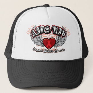 AIDS/HIV Wings Trucker Hat