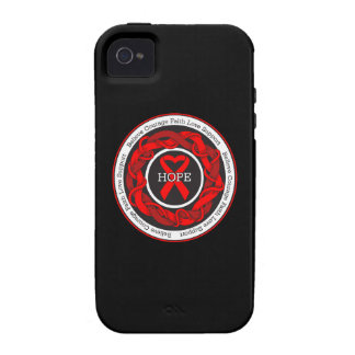 AIDS Hope Intertwined Ribbon iPhone 4 Case