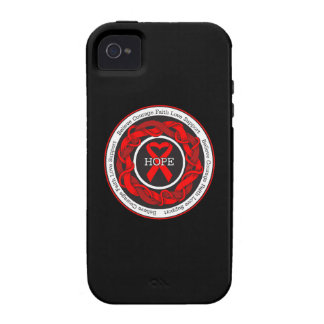 AIDS Hope Intertwined Ribbon iPhone 4/4S Covers