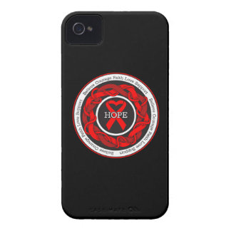 AIDS Hope Intertwined Ribbon iPhone 4 Cases