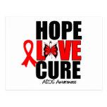 AIDS Hope Love Cure Postcards