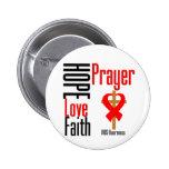 AIDS Hope Love Faith Prayer Cross Pins