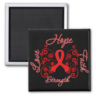 AIDS Hope Motto Butterfly Fridge Magnet
