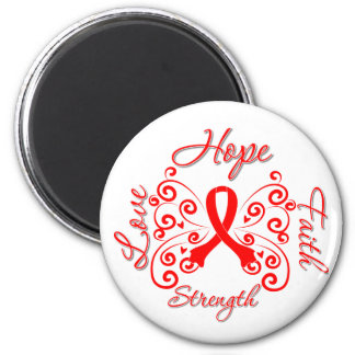 AIDS Hope Motto Butterfly Fridge Magnets