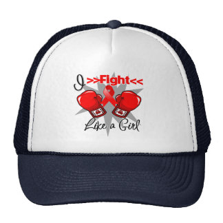 AIDS I Fight Like a Girl With Gloves Trucker Hat