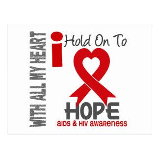 AIDS I Hold On To Hope Postcard