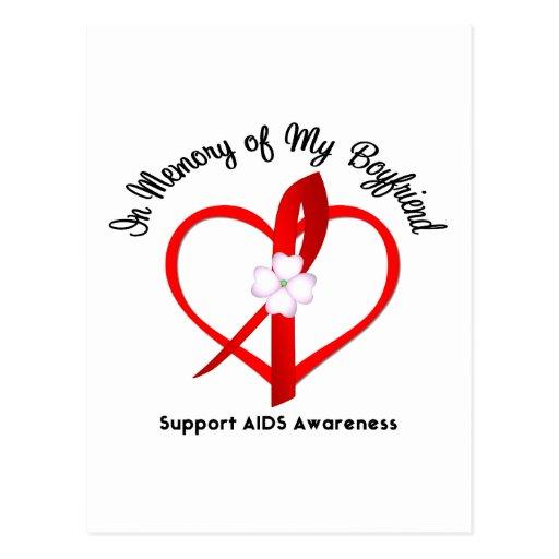 AIDS In Memory of My Boyfriend Postcard