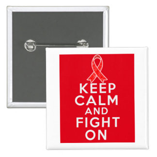 AIDS Keep Calm and Fight On Buttons
