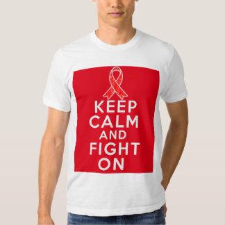 AIDS Keep Calm and Fight On Tee Shirt