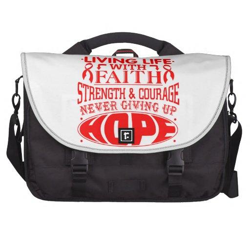 AIDS Living Life with Faith Laptop Computer Bag