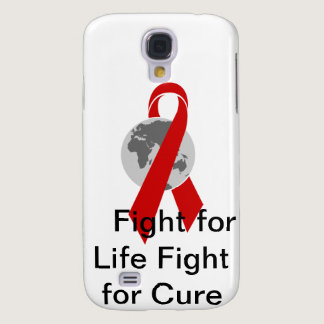 Aids Logo Fight for Life Fight for Cure Samsung Galaxy S4 Case