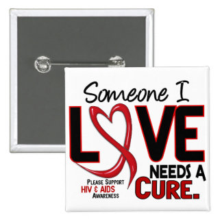 AIDS NEEDS A CURE 2 PIN