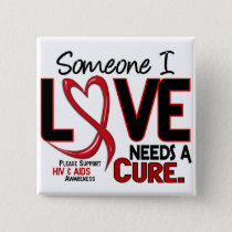 AIDS NEEDS A CURE 2 PINBACK BUTTON