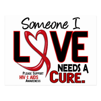 AIDS NEEDS A CURE 2 POSTCARD