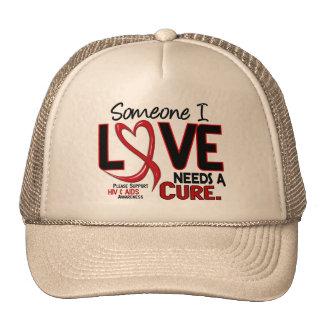 AIDS NEEDS A CURE 2 TRUCKER HAT