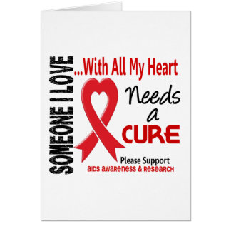 AIDS Needs A Cure 3 Greeting Card