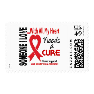 AIDS Needs A Cure 3 Postage Stamps