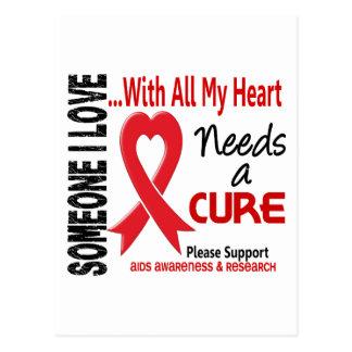 AIDS Needs A Cure 3 Postcard