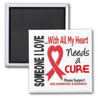 AIDS Needs A Cure 3 Refrigerator Magnets