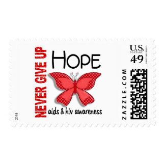 AIDS Never Give Up Hope Butterfly 4.1 Postage Stamp