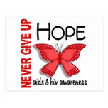 AIDS Never Give Up Hope Butterfly 4.1 Postcards