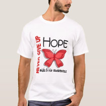 AIDS Never Give Up Hope Butterfly 4.1 T-Shirt