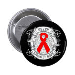 AIDS Never Giving Up Hope.png Pin