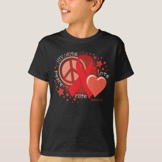 AIDS:Peace Love Cure T-Shirt