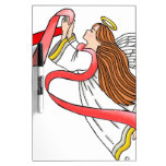 """AIDS """"Red Ribbon"""" Awareness Angel Dry Erase Board"""