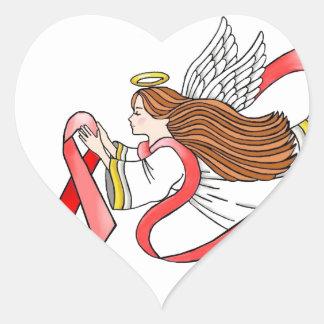 "AIDS ""Red Ribbon"" Awareness Angel Heart Sticker"