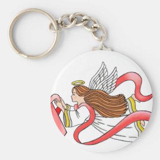 "AIDS ""Red Ribbon"" Awareness Angel Key Chain"