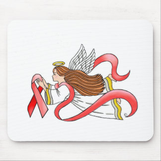 "AIDS ""Red Ribbon"" Awareness Angel Mouse Pad"