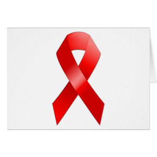 AIDS Ribbon Greeting Card