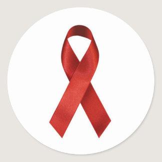 aids-ribbon classic round sticker