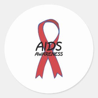 Aids Ribbon Classic Round Sticker