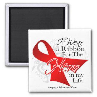 AIDS Ribbon Hero in My Life Fridge Magnets