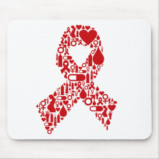 Aids Ribbon Icon Awareness Mouse Pad