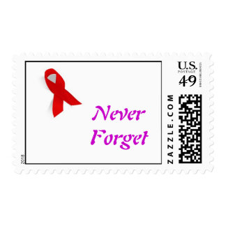 aids ribbon, Never Forget Postage Stamp
