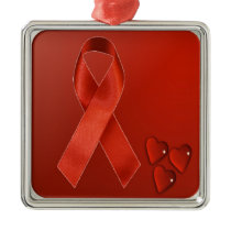 AIDS Ribbon Ornament