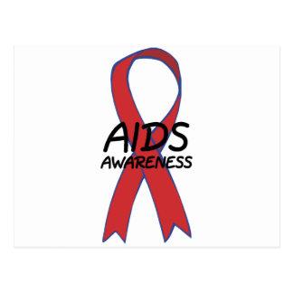 Aids Ribbon Postcard